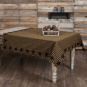 Black Star Square Tablecloth