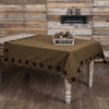 Black Star Square Tablecloth at Retro Barn