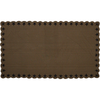 Black Star Rectangle Tablecloth