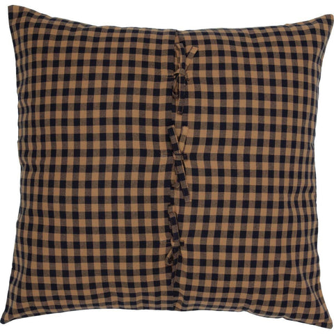 Navy Check Fabric Euro Sham