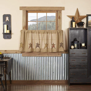 Stratton Burlap Applique Star Tier Set