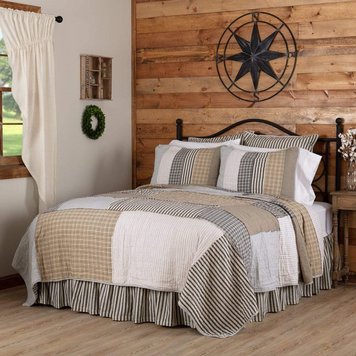Modern Farmhouse Bedding Retro Barn Country Linens