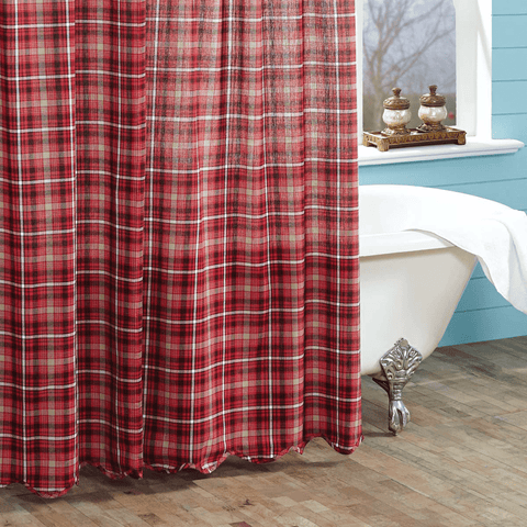 Braxton Shower Curtain - Retro Barn Country Linens - 1