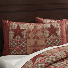 Dawson Star King Sham - Retro Barn Country Linens - 1