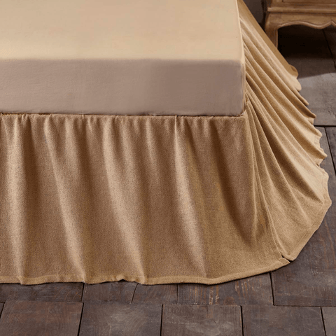 Burlap Natural Ruffled Bedskirt sold at Retro Barn