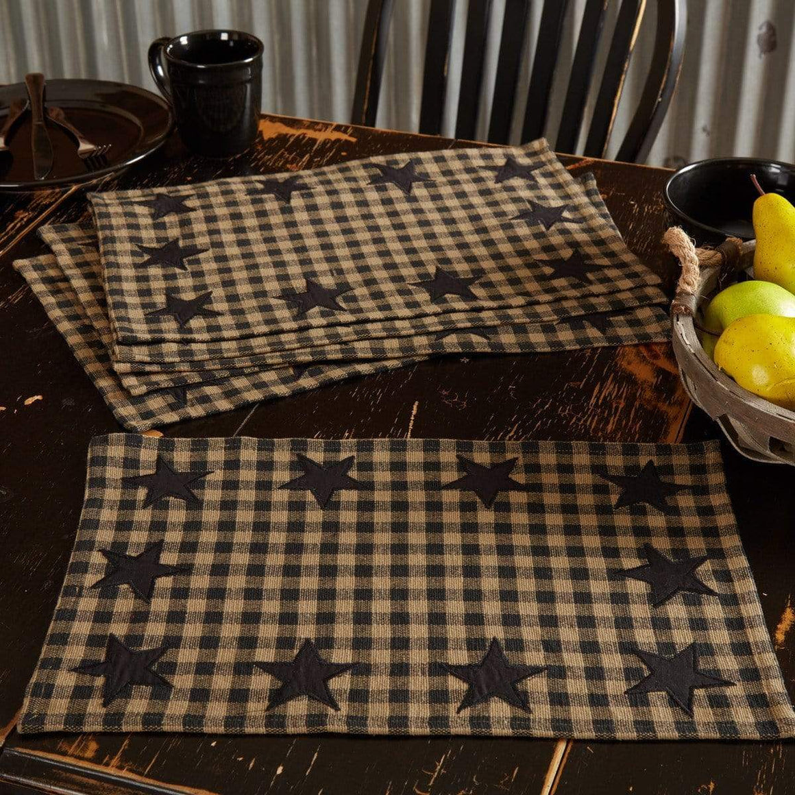 Black Star Placemat Set of 6