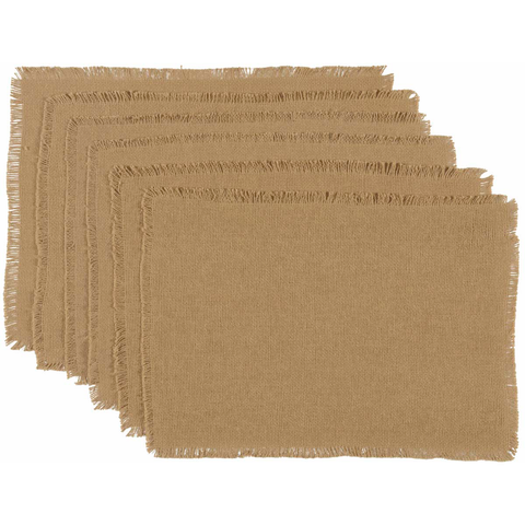 Burlap Natural Placemat Set of 6