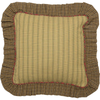 Tea Cabin Ruffled Fabric Pillow