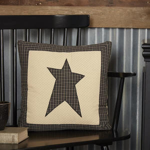 Kettle Grove Black Star Pillow 16""