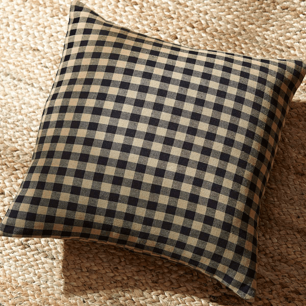 "Black Check 16"" Pillow"