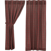 "Tartan Red Plaid 63"" Panel Set"