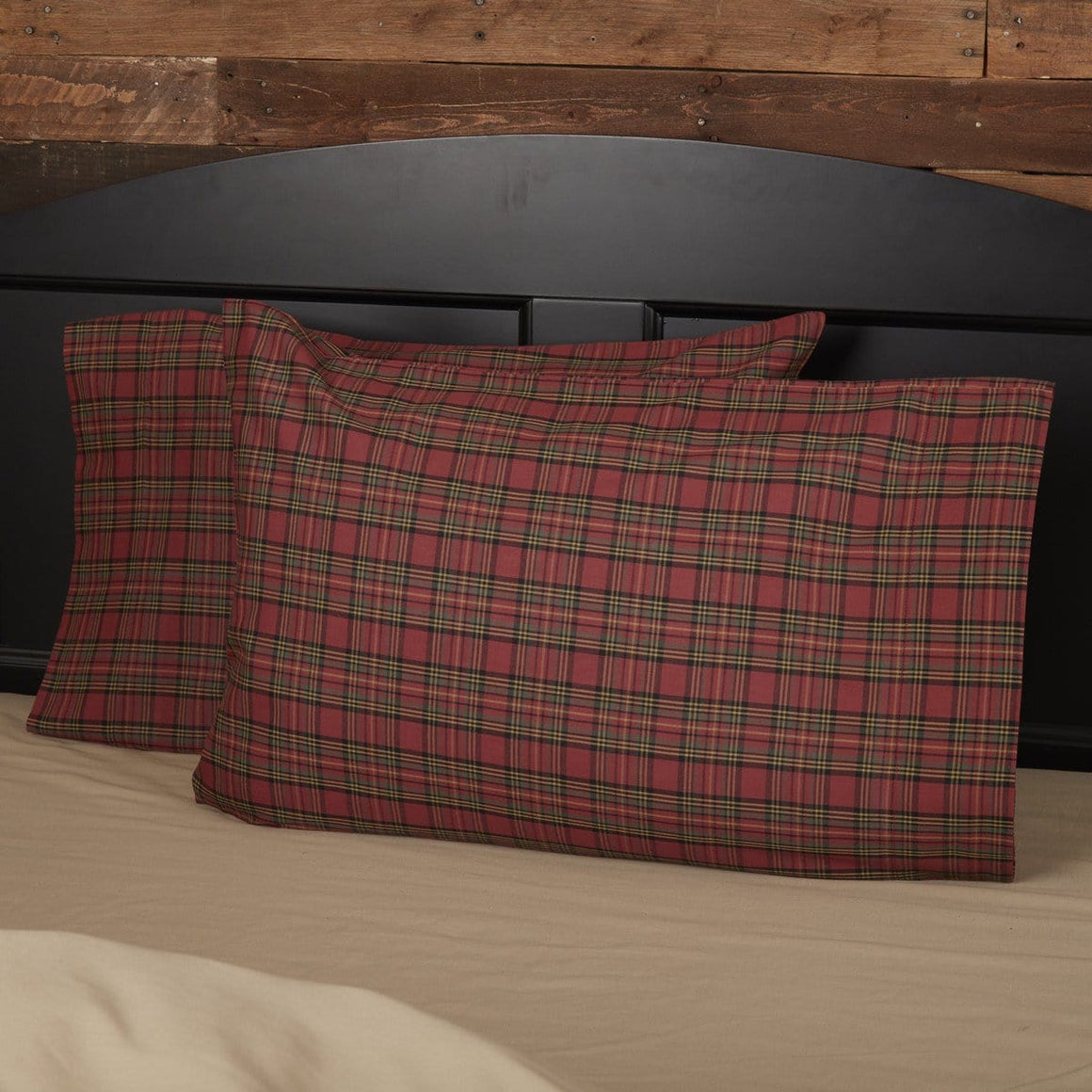 Tartan Red Plaid Pillow Case Set