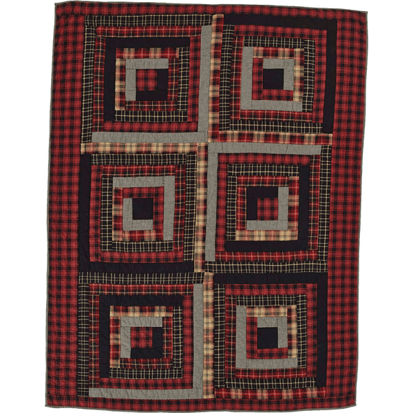 Cumberland Quilted Throw Retro Barn Country Linens