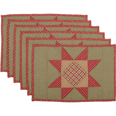 Dolly Star Placemat Set of 6