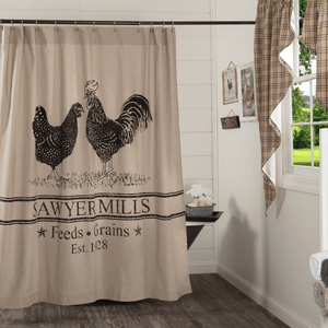 Sawyer Mill Shower Curtain - Poultry