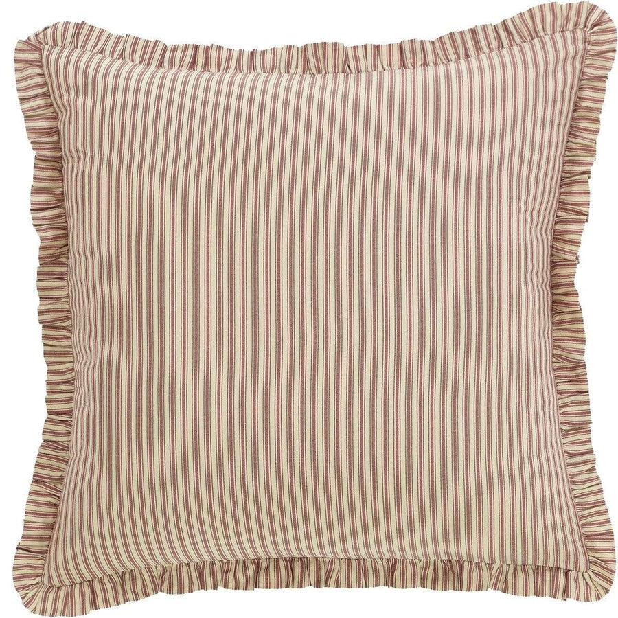 Ozark Red Ticking Stripe Euro Sham