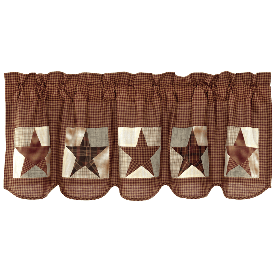 Abilene Star Patch Valance