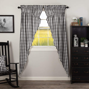 Annie Buffalo Long Prairie Curtain - Black