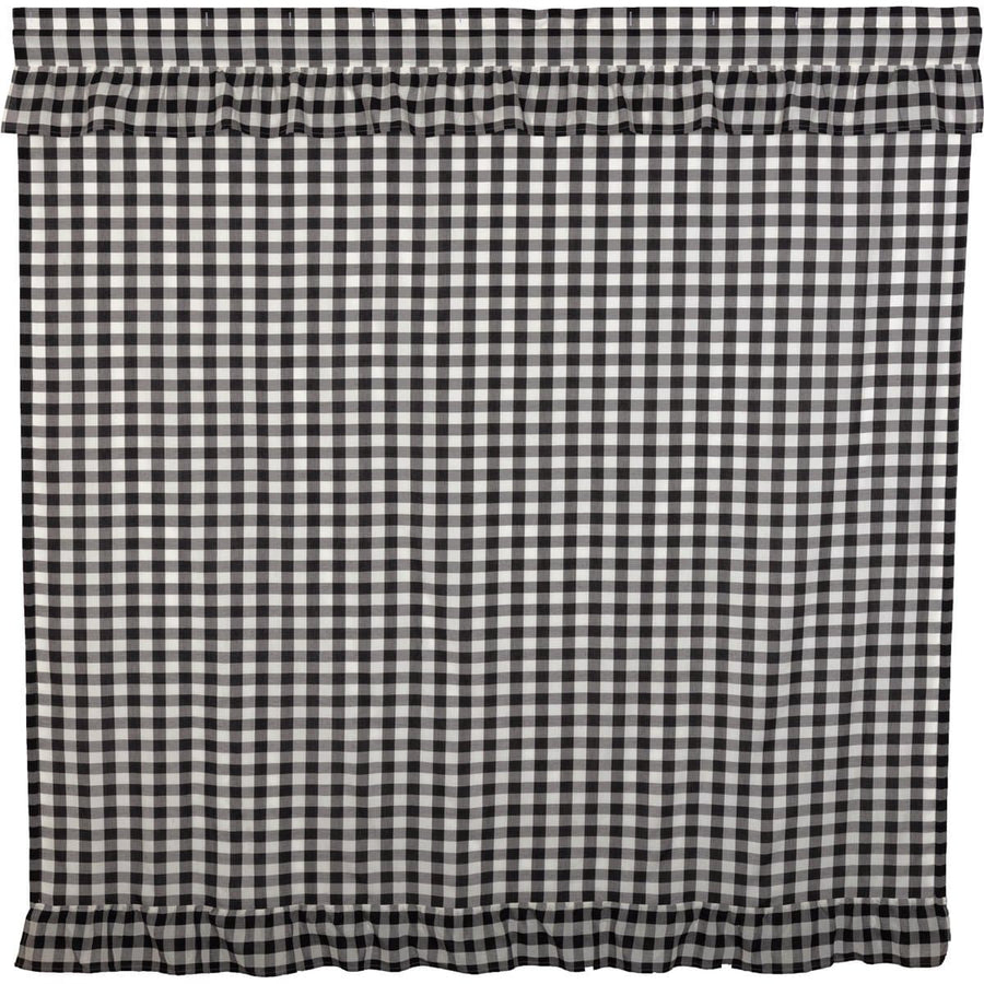 Annie Buffalo Black Check Ruffled Shower Curtain