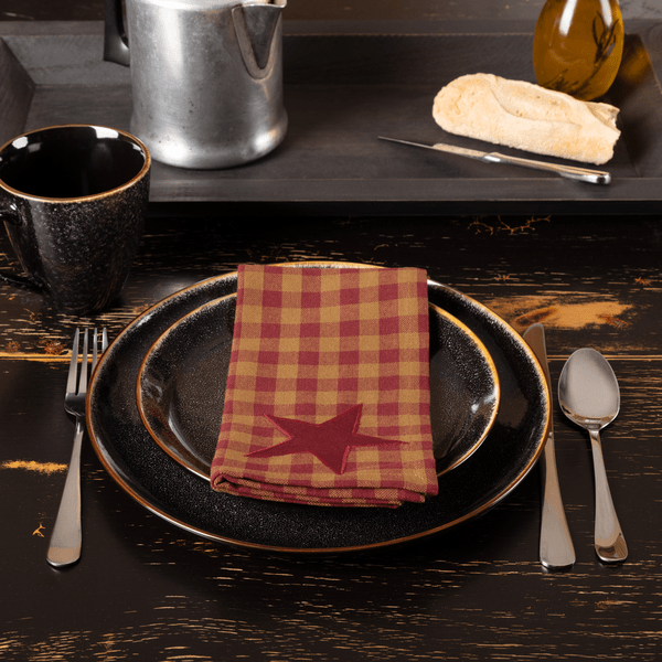 Burgundy Star Napkin Set of 6