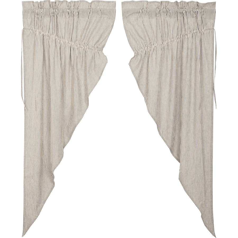 Hatteras Ticking Stripe Prairie Curtain