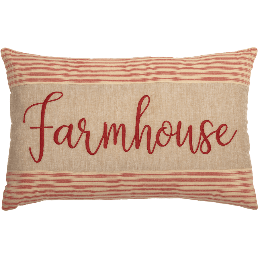 Rory Schoolhouse Red Farmhouse Pillow