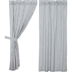"Sawyer Mill Blue Ticking Stripe 63"" Panel Set"