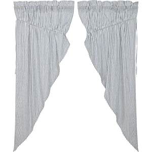Sawyer Mill Blue Ticking Stripe Prairie Curtain