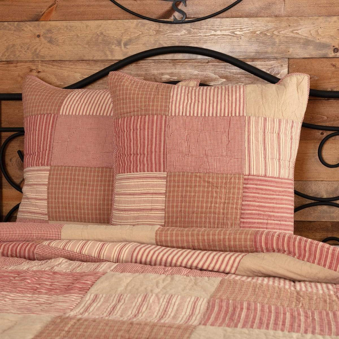 Sawyer Mill Red Quilted Euro Sham