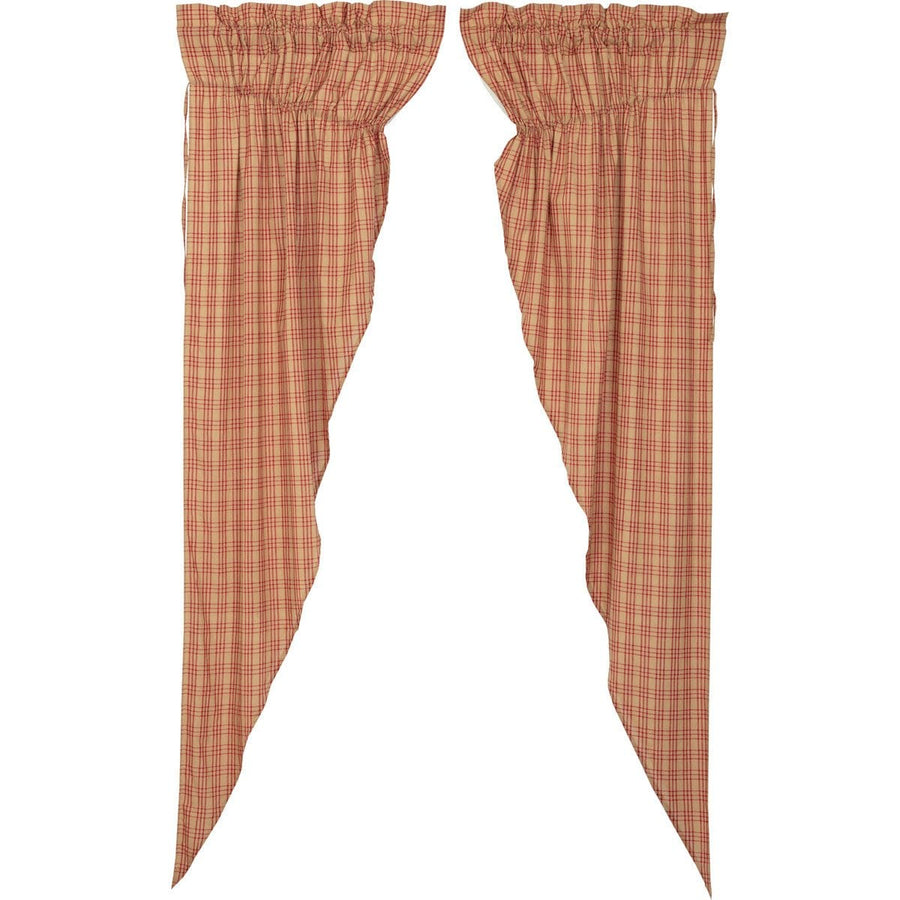 Sawyer Mill Red Plaid Long Prairie Curtain