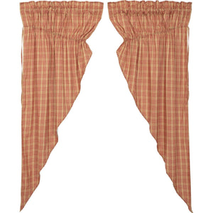 Sawyer Mill Red Plaid Prairie Curtain