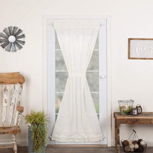 Tobacco Cloth Rustic Sheer Door Panel