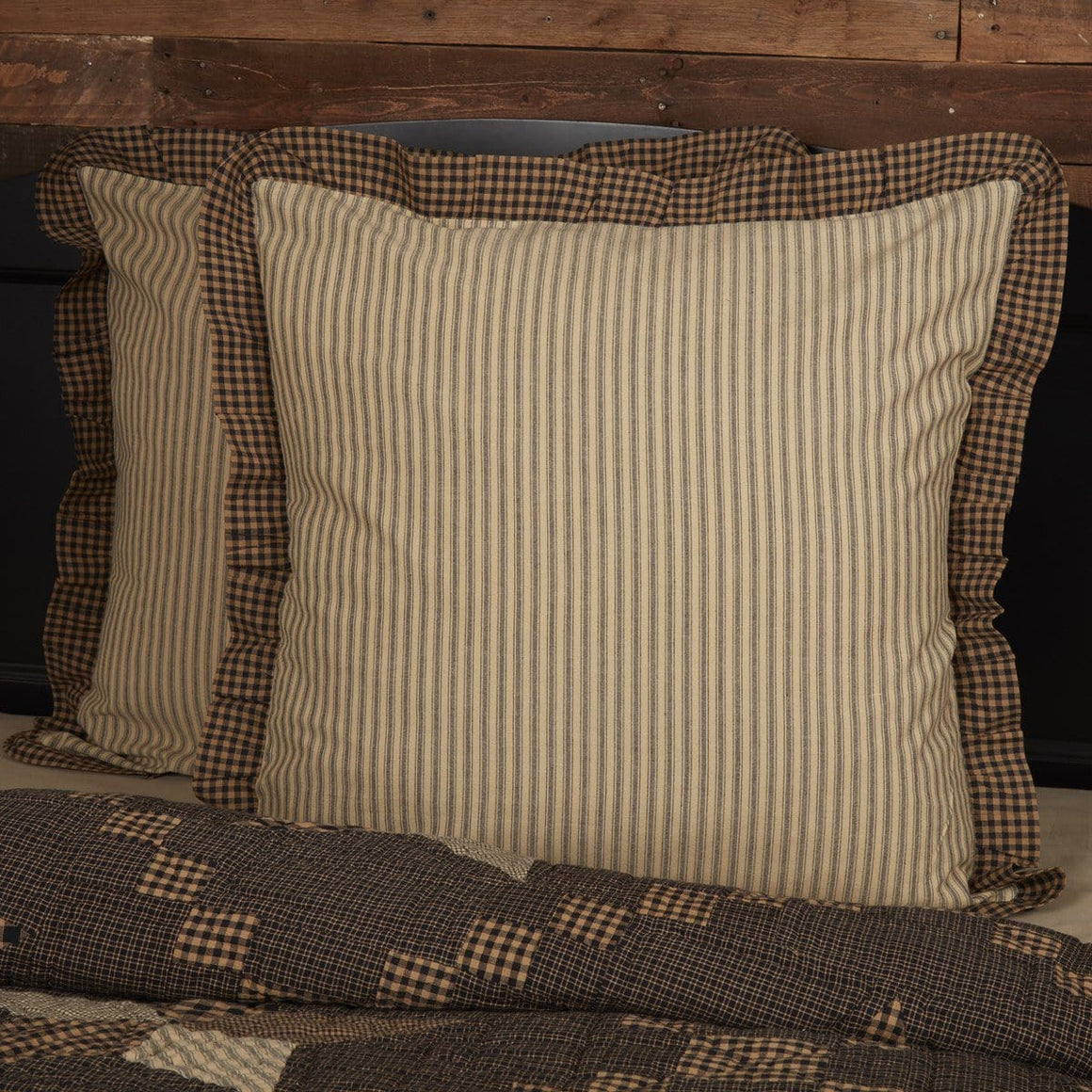 Farmhouse Star Fabric Euro Sham