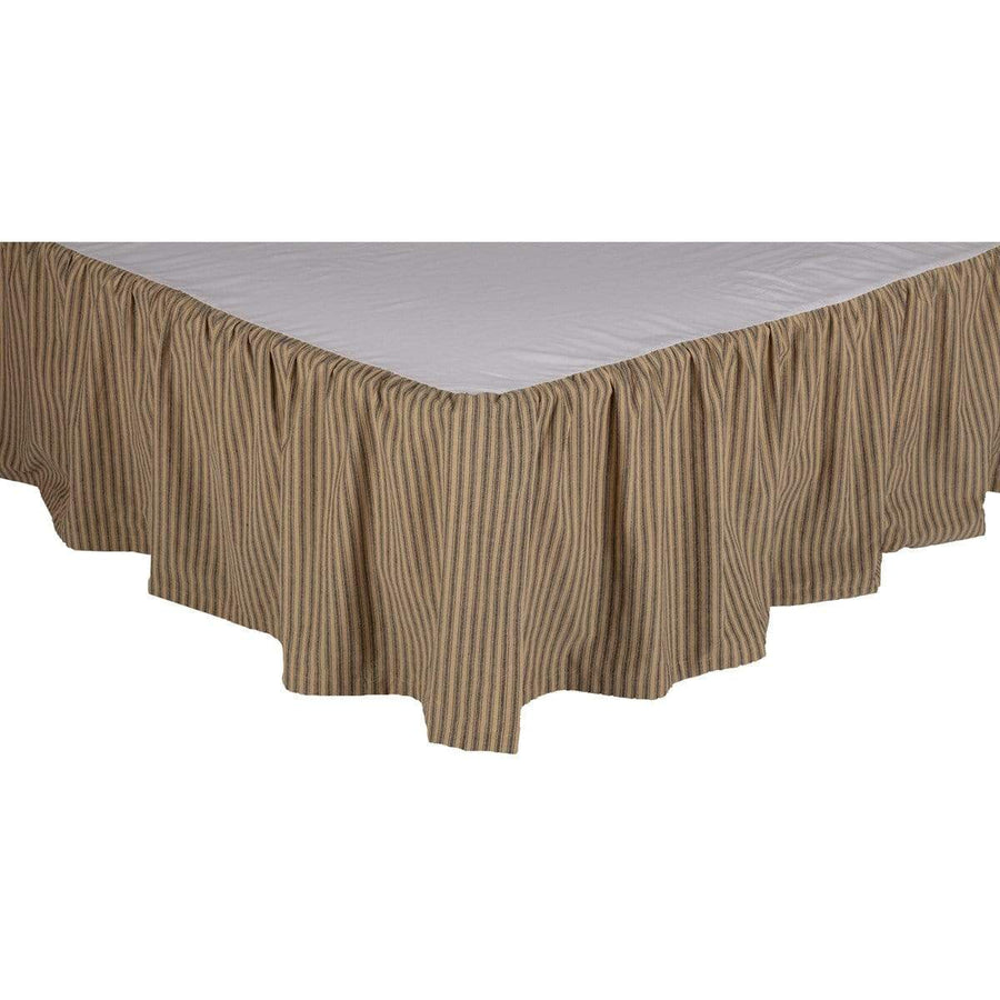 Farmhouse Star Ticking Stripe Bedskirt