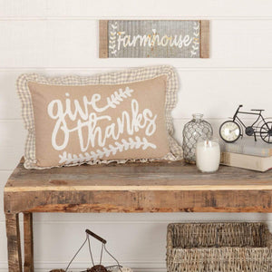 Grace Give Thanks Pillow
