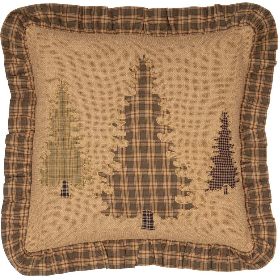Cedar Ridge Tree Applique Pillow