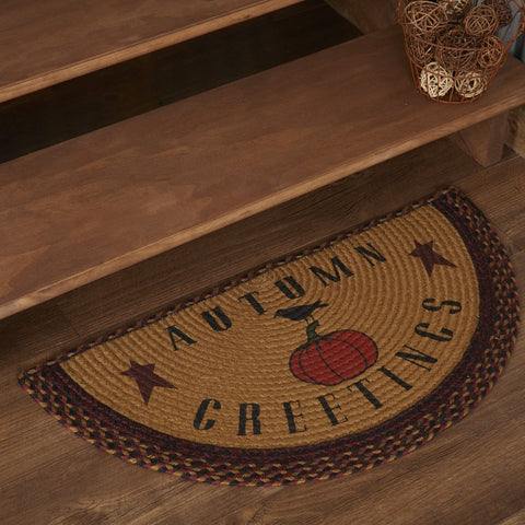 Heritage Farms Autumn Greetings Half Circle Jute Rug