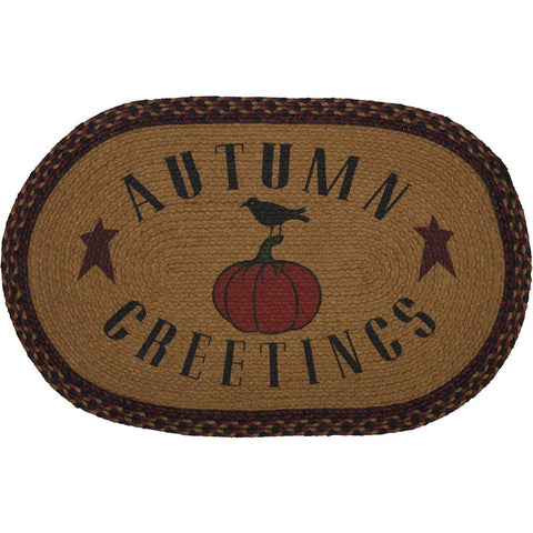 Heritage Farms Autumn Greetings Jute Rug