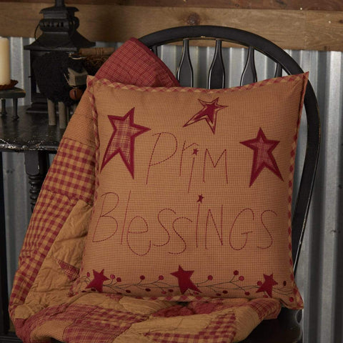 Ninepatch Star Prim Blessings Large Pillow