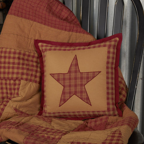 Ninepatch Star Small Quilted Pillow