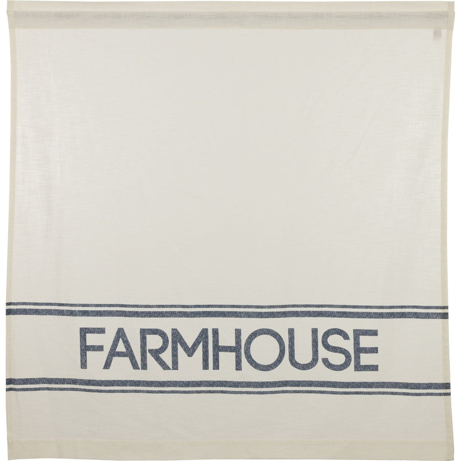 Sawyer Mill Blue Farmhouse Shower Curtain