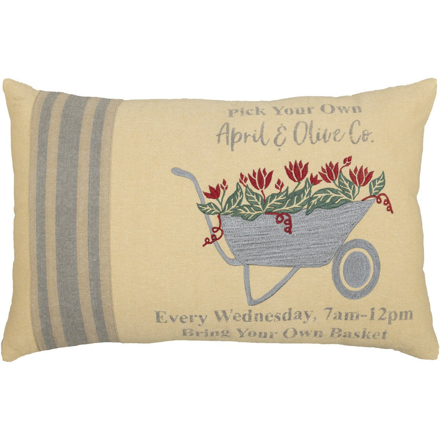 Farmer's Market Wheelbarrow Pillow