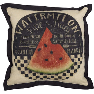 Farmer's Market Fresh Watermelon Pillow