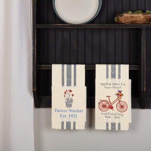 Farmer's Market Bicycle Towel Set