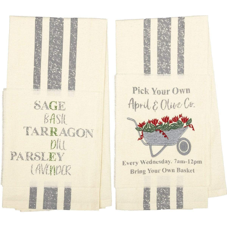 Farmer's Market Wheelbarrow Towel Set