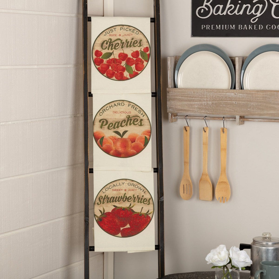 Farmer's Market Fresh Fruit Tea Towel Set