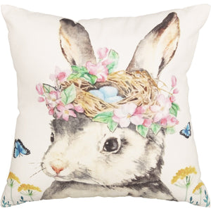 Easter Bunny Whimsy Pillow