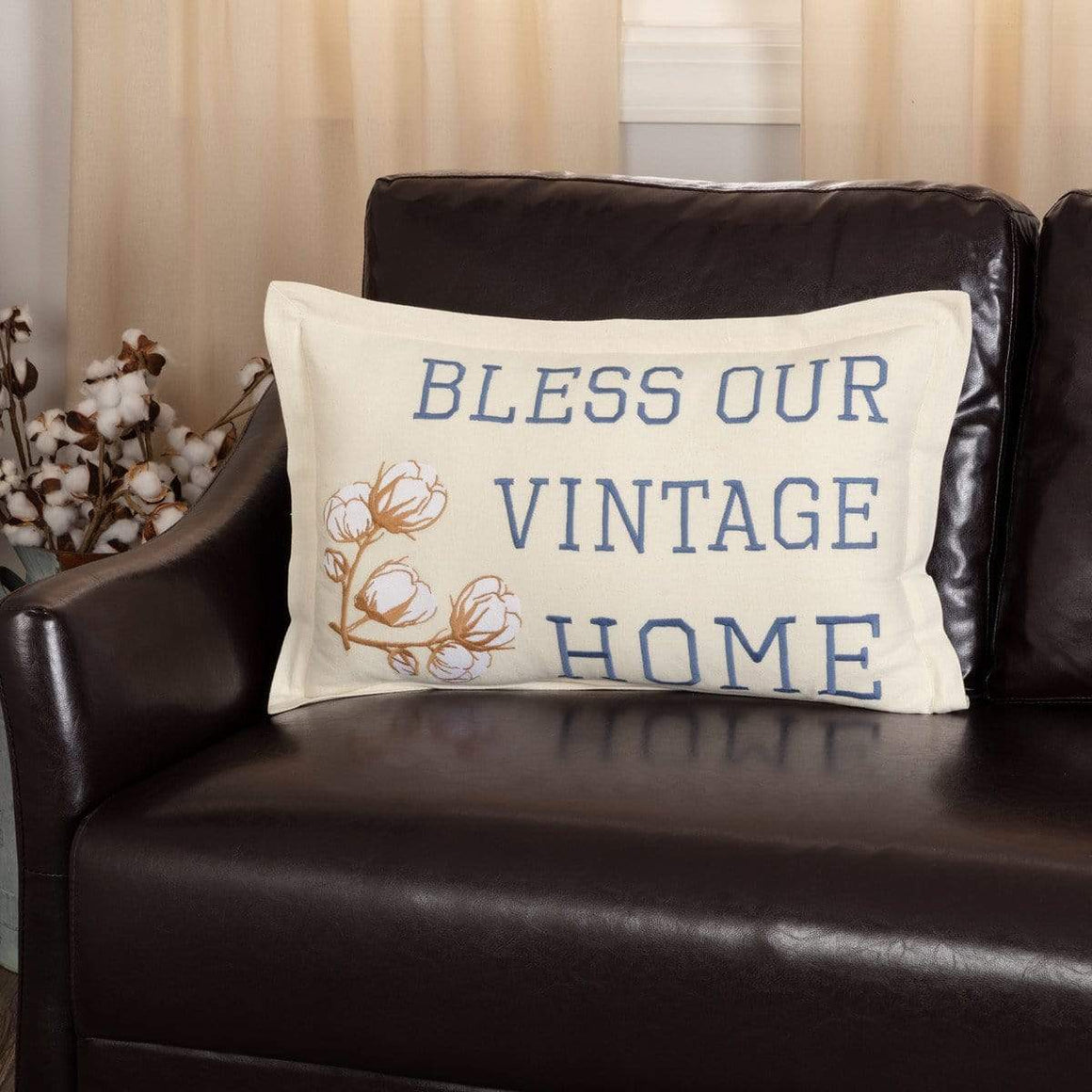 Ashmont Bless Our Vintage Home Pillow