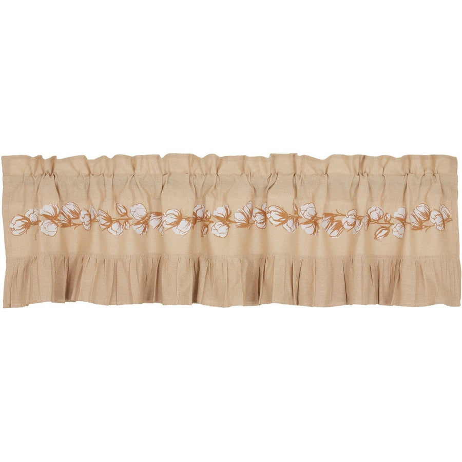 Ashmont Embroidered Cotton Boll Valance