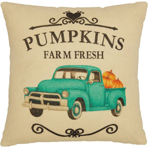 Fall on the Farm Truck Pillow